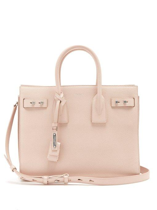 1af0c5f58a7e Saint Laurent - Sac De Jour Small Grained Leather Tote - Womens - Light Pink  In