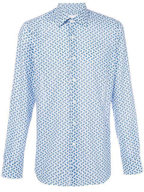 6b1f6f69c1b892 Prada Palm Tree Print Shirt In White | ModeSens