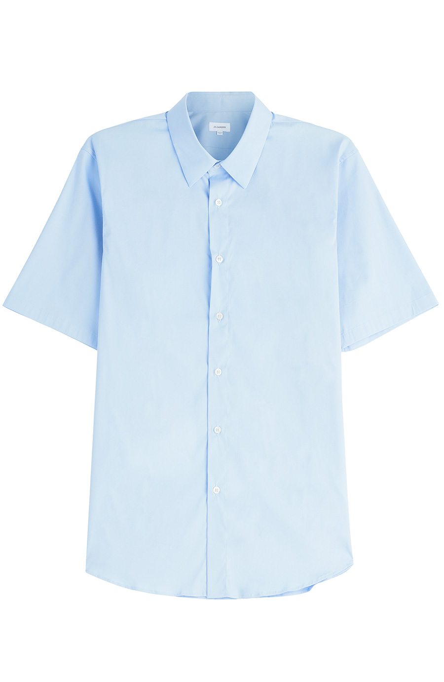 Jil Sander Short Sleeve Cotton Shirt In Blue