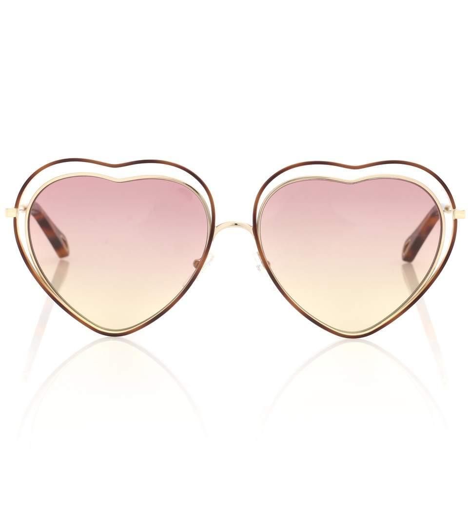 0463ce8dd1 ChloÉ Women s Poppy Love Heart Frame Sunglasses