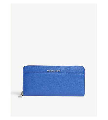 Michael Michael Kors Mercer Leather Wallet In Elctric Blue