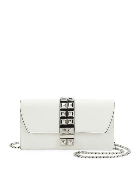 9eb818ed92 Prada Studded Leather Wallet-On-Chain In White Black