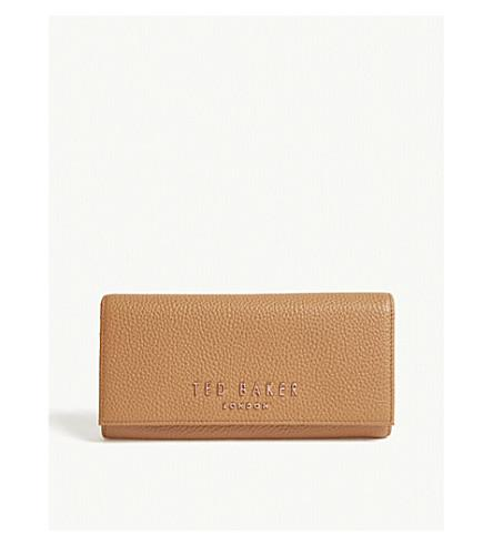 Ted Baker Lura Matinee Leather Wallet In Tan