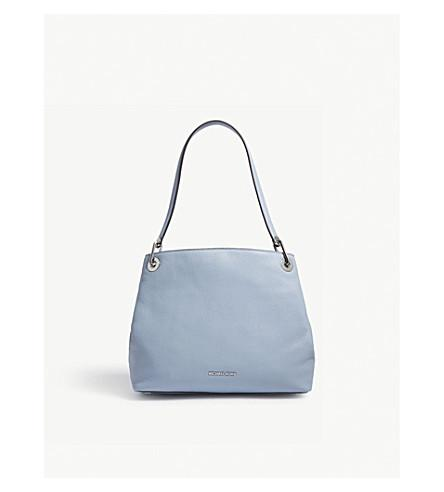 b9127618d959 Michael Michael Kors Raven Large Leather Shoulder Bag In Pale Blue ...