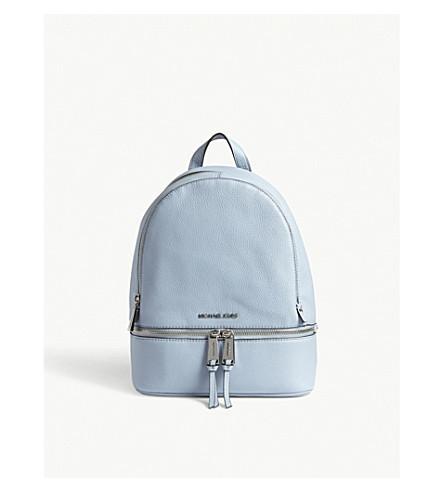 8d50244970bff6 Michael Michael Kors Rhea Medium Leather Backpack In Pale Blue ...
