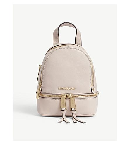 f1aba0a6d435 Michael Michael Kors Rhea Extra-Small Leather Backpack In Soft Pink ...