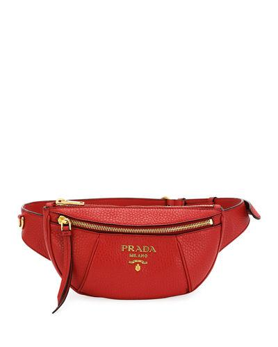 83681a91e910a1 Prada Daino Belt Bag In Red | ModeSens