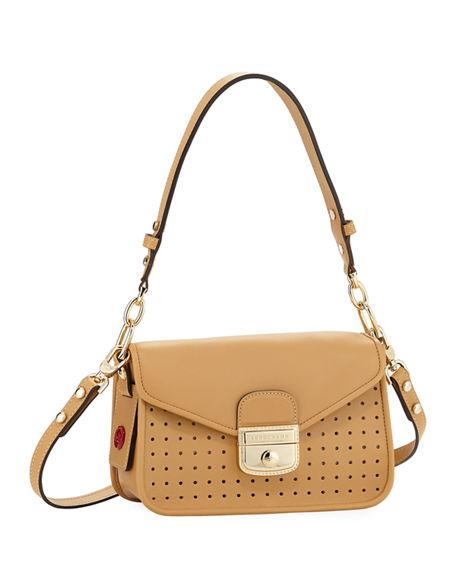 bf02184caf75 Longchamp Mademoiselle Calfskin Leather Crossbody Bag - Beige In Natural