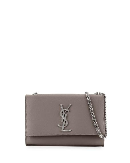 2d2897351b7 Saint Laurent Kate Small In Grain De Poudre Embossed Leather In Grey ...