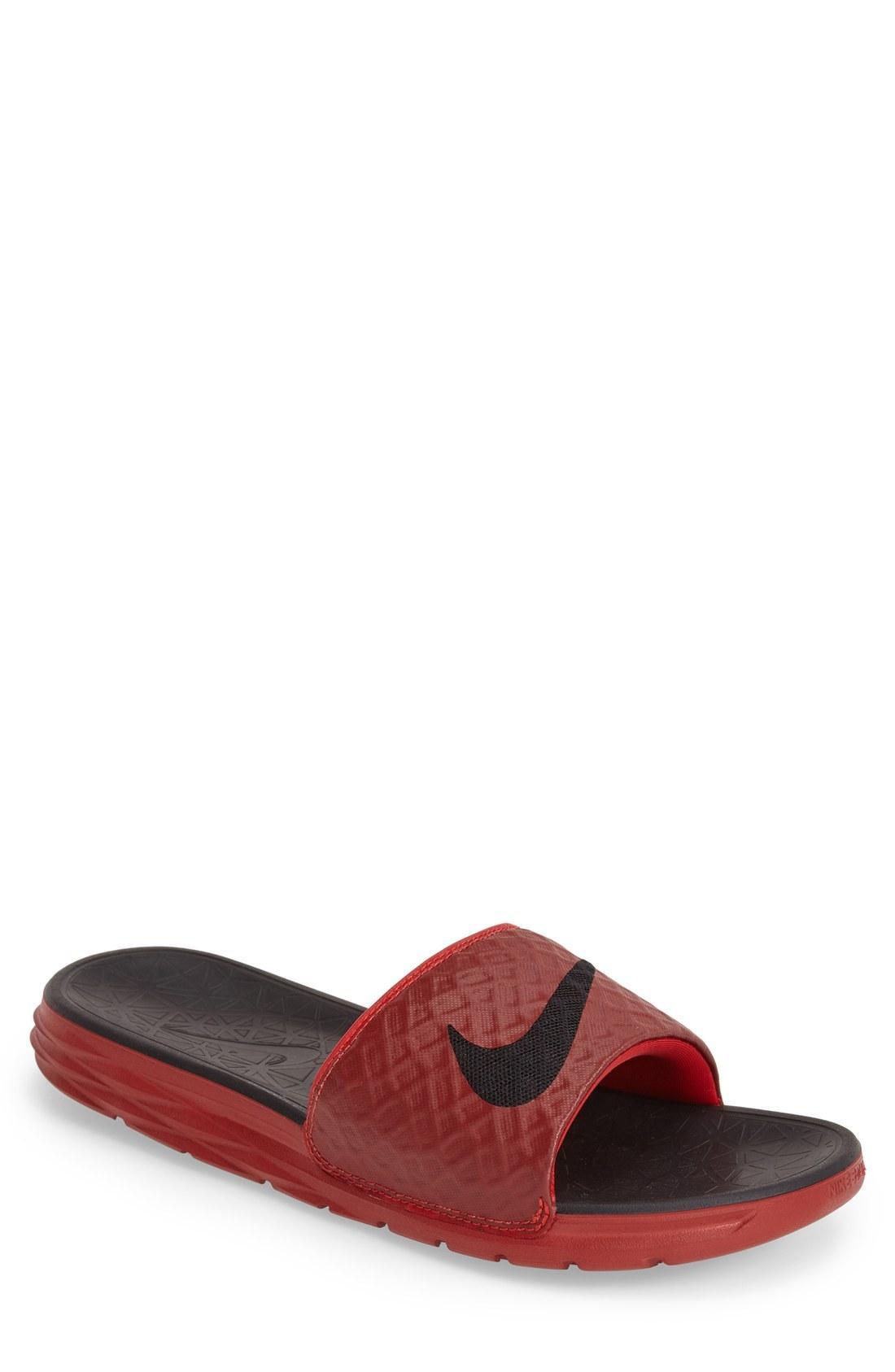 c66f7071c Nike  Benassi Solarsoft 2  Slide Sandal In University Red  Black ...