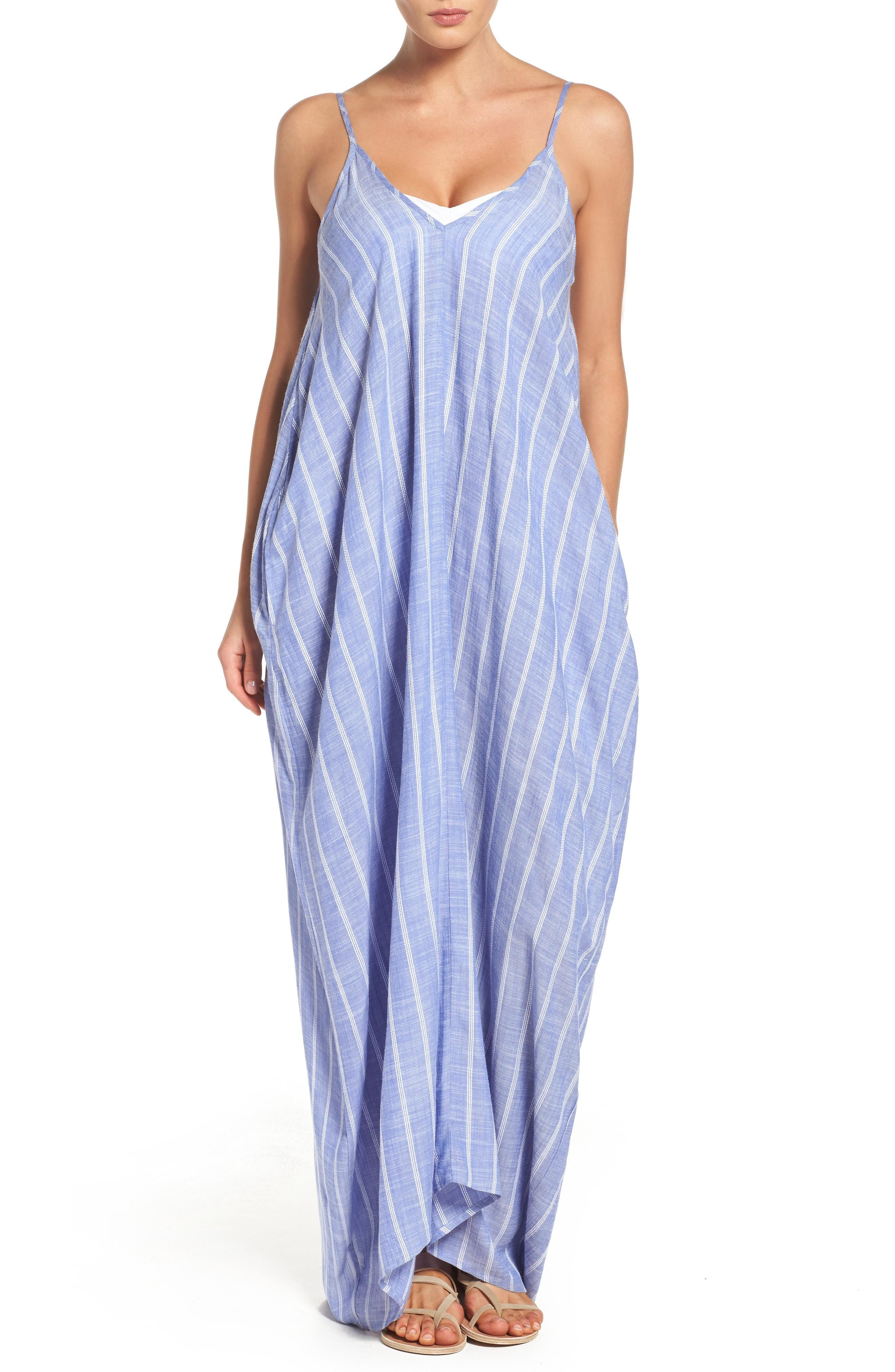 77d88ed931 Elan Cover-Up Maxi Dress In Denim | ModeSens