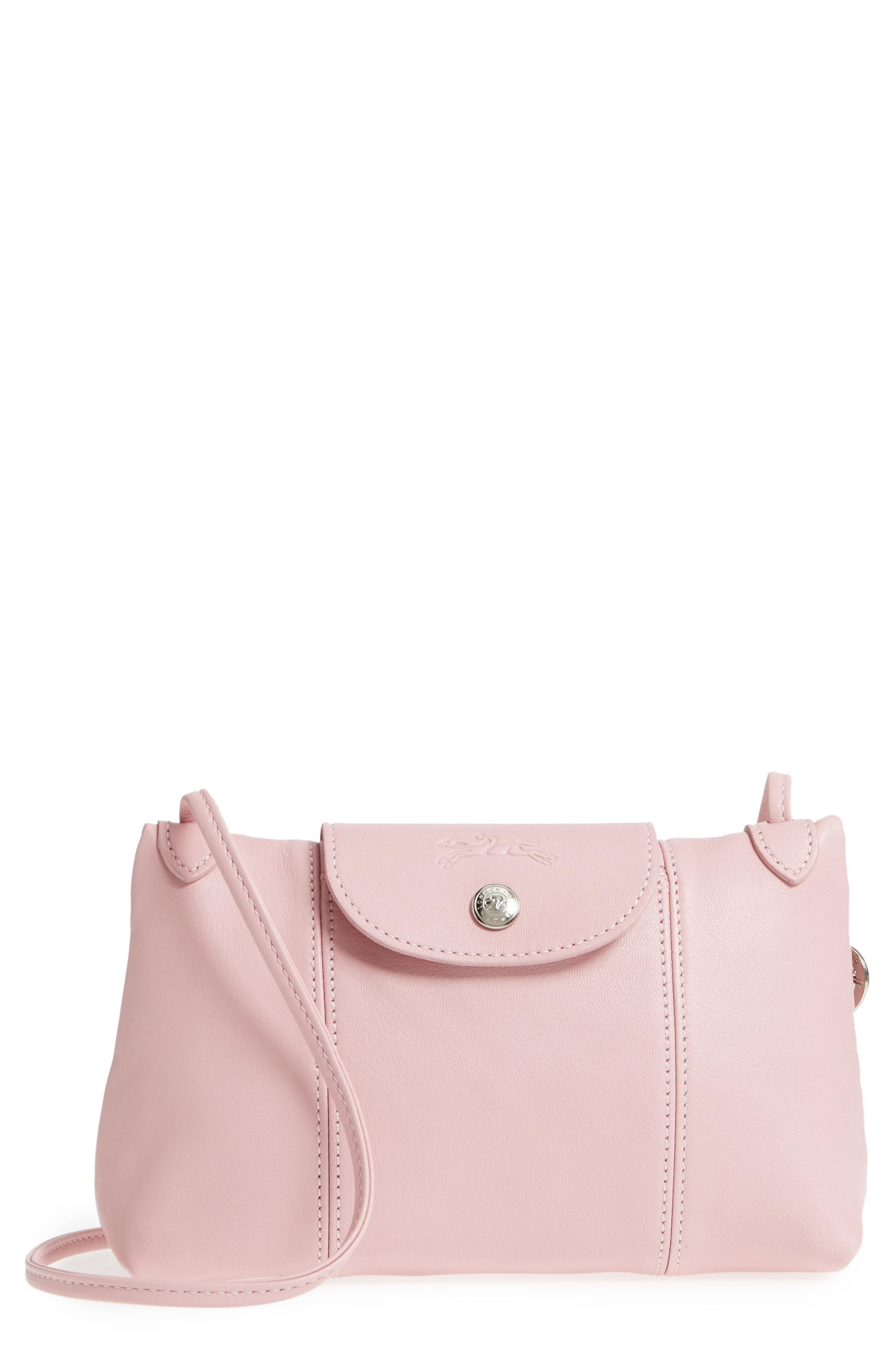 Le Pliage - Cuir Crossbody Bag - Pink In Girl