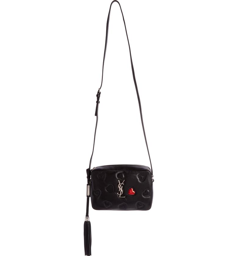 2422f13401 Saint Laurent Medium Lou Lambskin Leather Camera Bag - Black