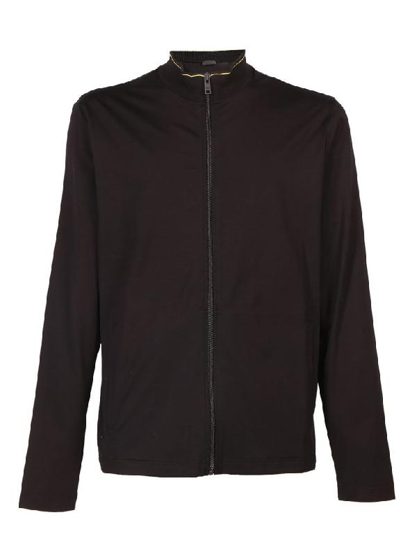 Prada Jacket In Nero+Turchese