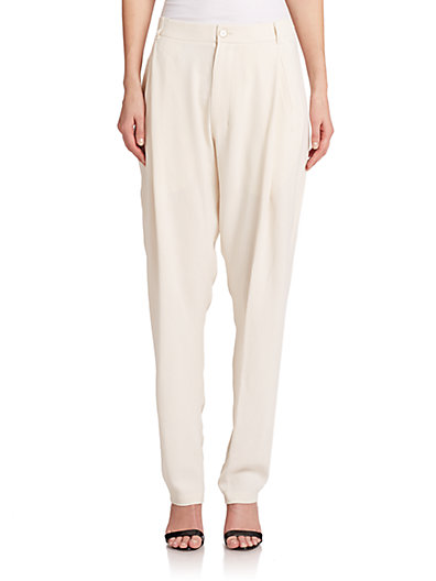 Just Cavalli Pleated Pants In Natural