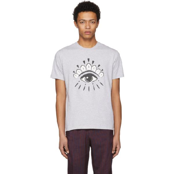 013e4a9f Kenzo Eye Grey Cotton T-Shirt In 93 Gris Clair | ModeSens