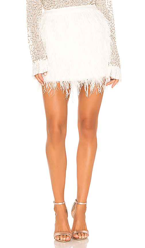 Aje Wattle Feather Mini Skirt In White