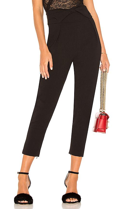 Elliatt Iris Ankle Zip Pants In Black