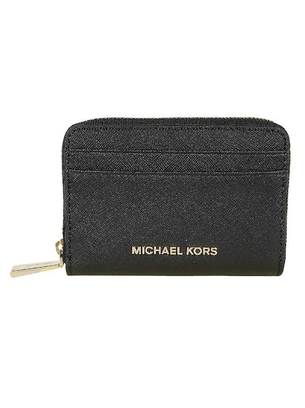 Michael Kors Jet Set Wallet In Black