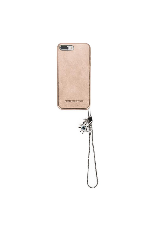 6a5bf0a9abed Rebecca Minkoff Leather Evil Eye Charm Case For Iphone 8 Plus   Iphone 7  Plus In