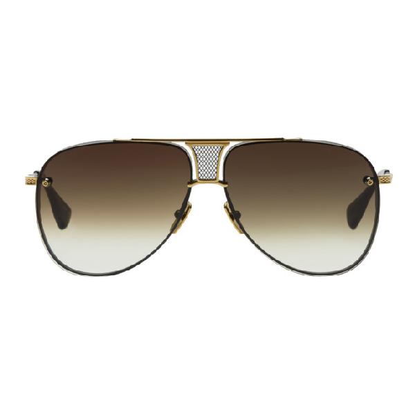 bf05a13fd4e6 Dita Black And Gold Limited Edition Decade-Two Sunglasses In Black ...