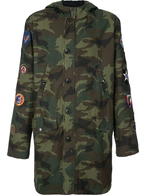 Amiri Canvas Camo Parka - Green