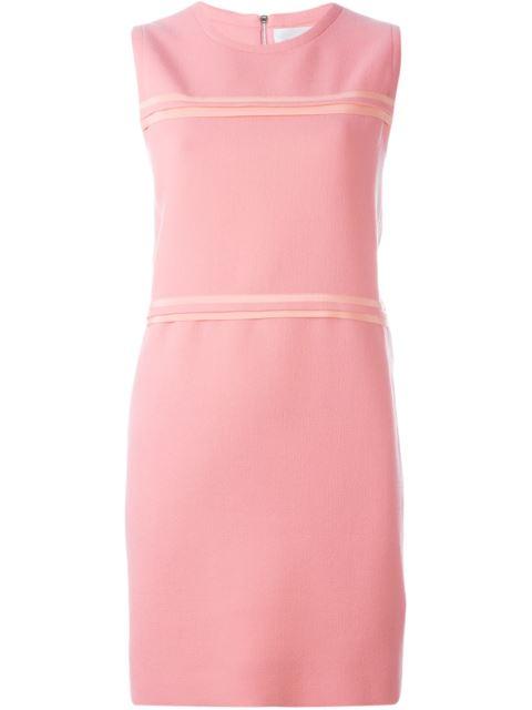 Victoria Victoria Beckham Silk Georgette-trimmed Wool-crepe Mini Dress In Candy Pink