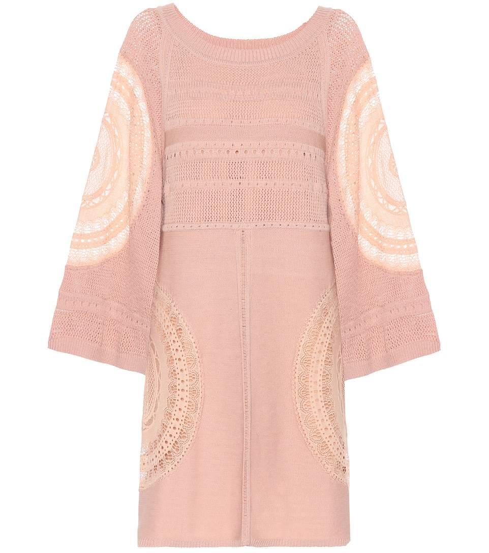 ChloÉ Silk-Blend Dress In Pink