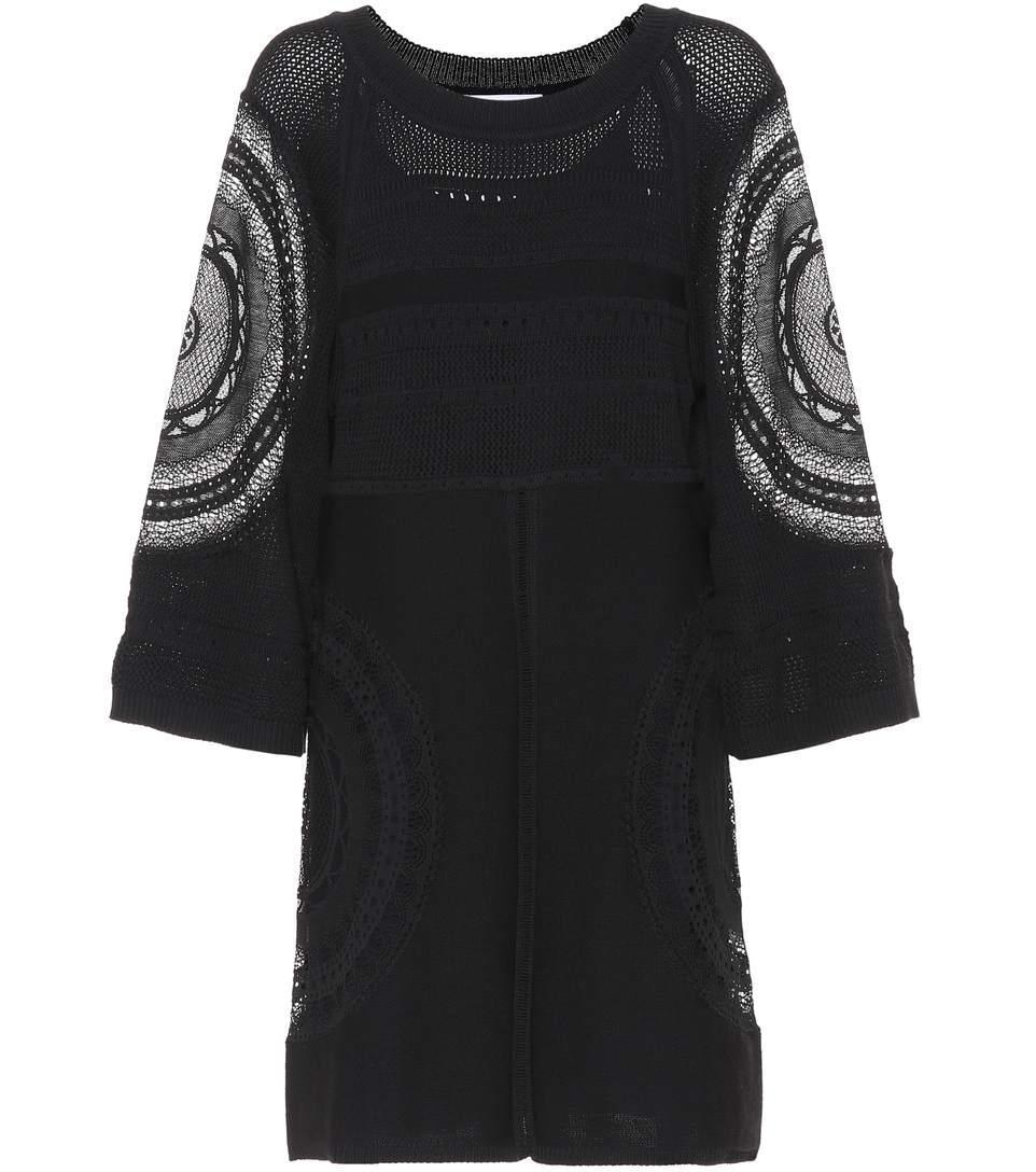 ChloÉ Cotton-Blend Dress In Black
