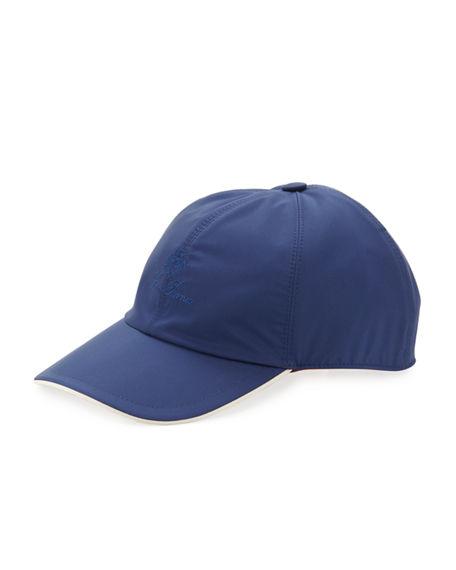 Loro Piana Wind Logo-embroidered Baseball Hat In Dark Blue
