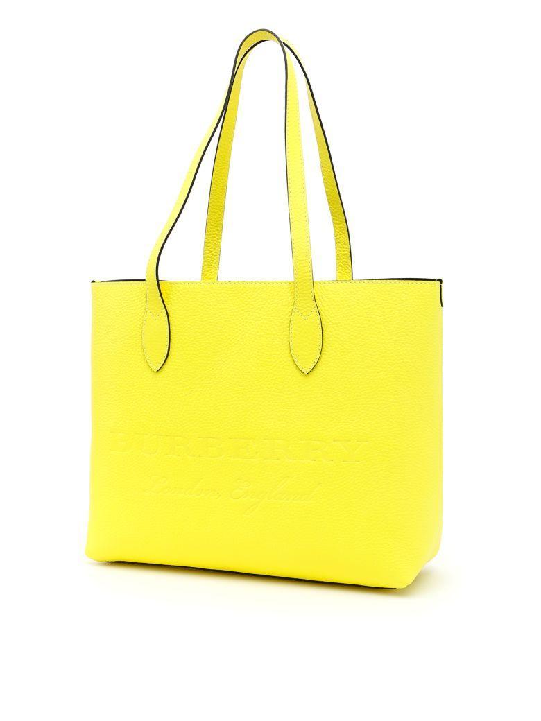 ec0fdc3f0fb2 Burberry Logo Shopping Bag In Neon Yellowgiallo
