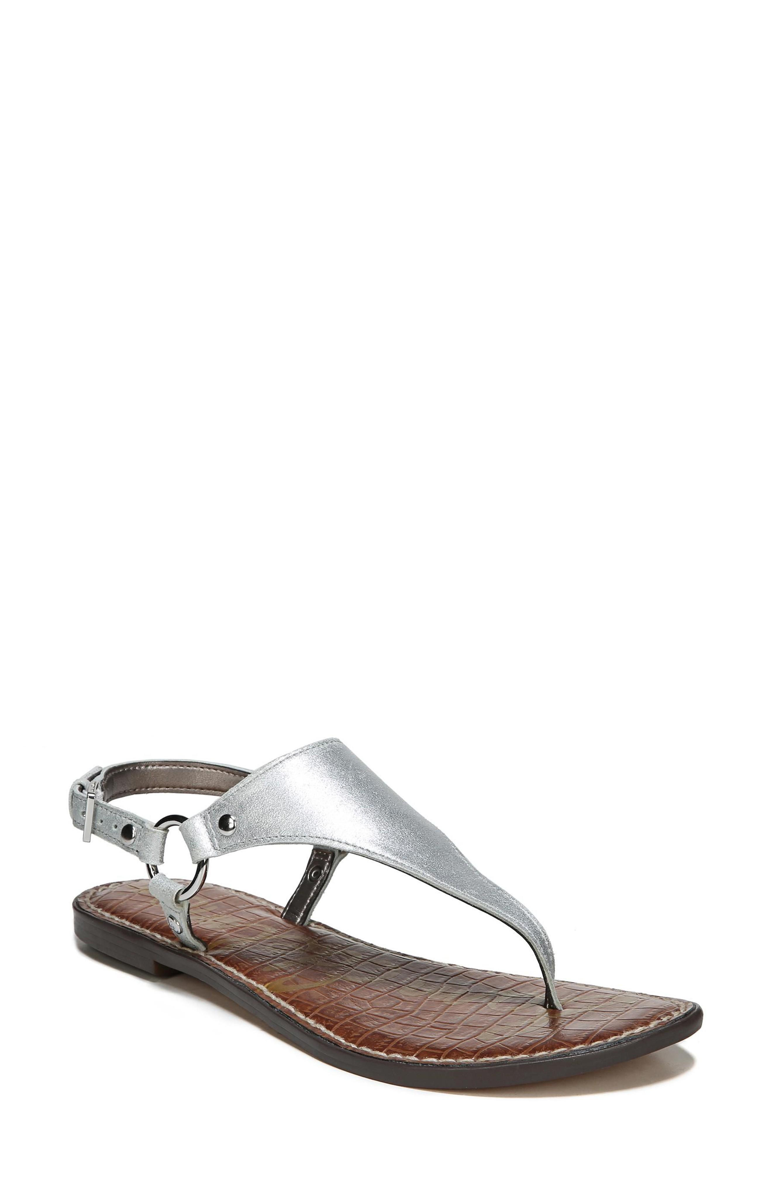 ffa93de96ec4 Sam Edelman Greta Sandal In Silver Leather