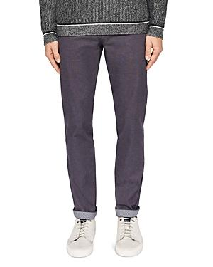 Ted Baker Hollden Slim Fit Textured Chinos In Charcoal