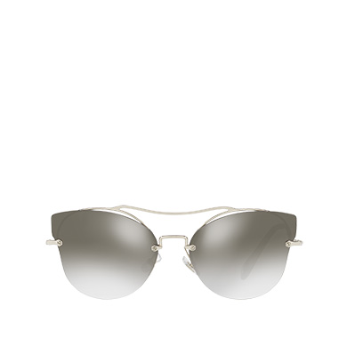 5ca64cc84e2c Miu Miu Scenique Butterfly Eyewear In Anthracite Gray To Lake Blue Gradient  Lenses With Silver Mirror