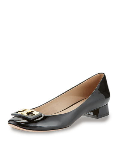 Tory Burch 'gigi' Block Heel Pump (women) In Black Patent