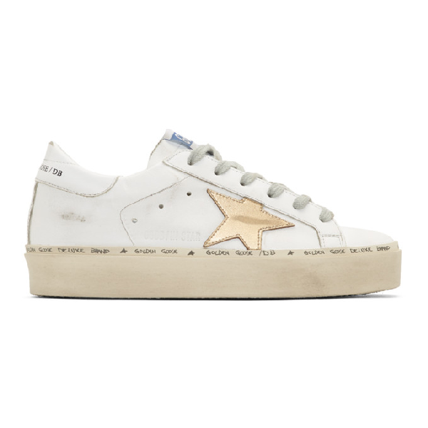 Golden Goose Women's Shoes Leather Trainers Sneakers Hi Star In White