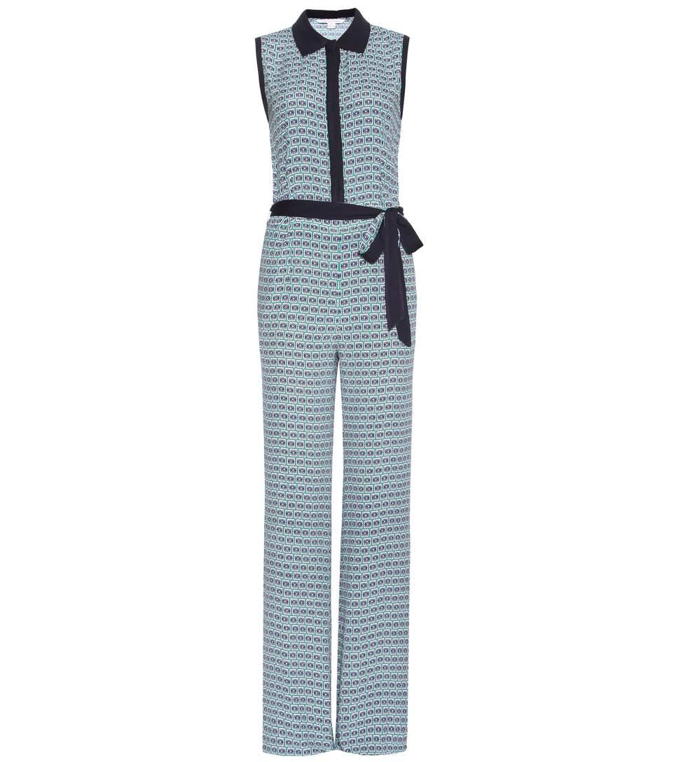 Diane Von Furstenberg Trista Printed Jumpsuit In Multicoloured
