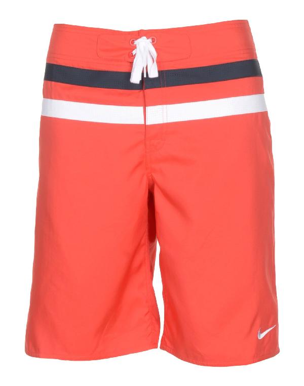 Nike Swim Trunks In Red