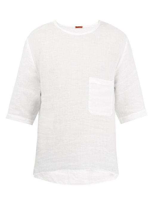 Barena Venezia Crew-Neck Linen T-Shirt In White