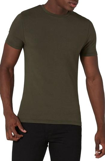 7ab8b663015 An essential crewneck T-shirt is crafted from soft stretch-cotton jersey in  a super-slim fit to show off all you got. Style Name  Topman Ultra Muscle  Fit ...
