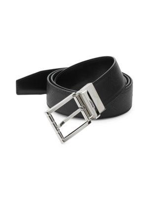 Bally Astor Reversible Leather Belt In Black