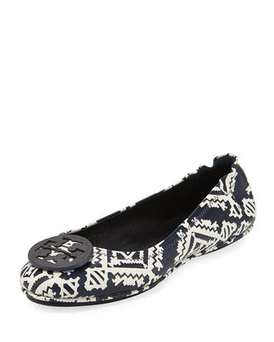2d2c723307ff A polished double-T logo medallion tops the rounded toe of a sophisticated ballet  flat cut from supple leather and designed with a slip-resistant rubber ...