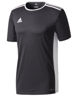 Adidas Originals Adidas Men's Entrada Climalite Soccer Shirt In Black