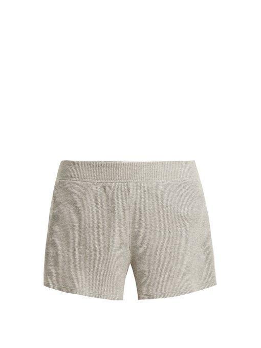 Skin Ingo Cotton-Blend Pyjama Shorts In Grey