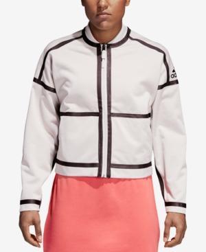 c7d5958e4 Women's Athletics Zne Reversible Bomber Jacket, White in Chalk Pearl