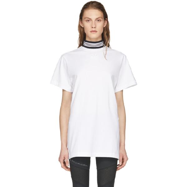 3557e257f751c Adidas Originals Longline T-Shirt With Three Stripe High Neck - Black