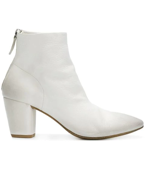 MarsÈLl Chunky Heel Ankle Boots In White