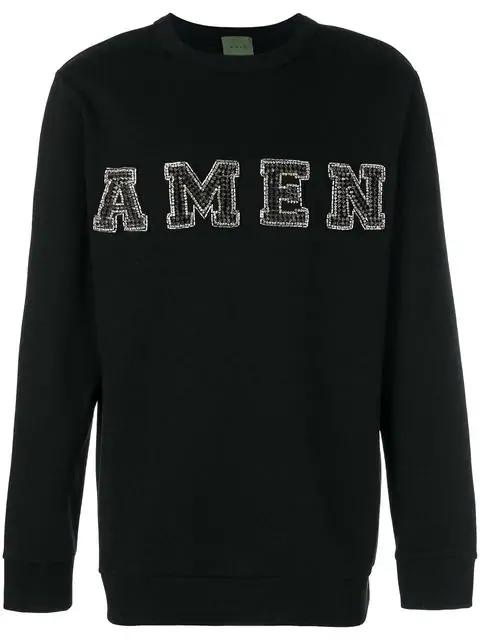 Amen Embellished Logo Sweatshirt In Black