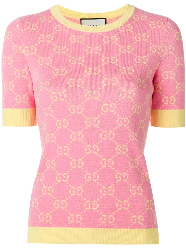 4c6c28c55 Gucci Gg Jacquard Knitted Top | ModeSens