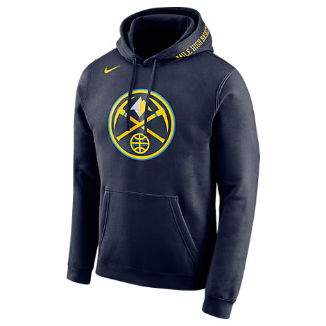 newest 44cdd cf8bc Men's Denver Nuggets Nba Club City Fleece Pullover Hoodie, Blue